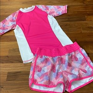 Girls rash guard Set